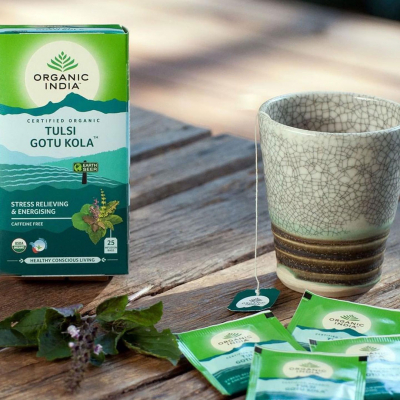 Organic India, Τσάι Gotu Kola Με Τούλσι, Χωρίς Καφεΐνη, 25 Φακελάκια