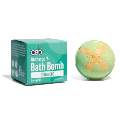 CBDfx, Bath Bombs, Recharge Eucalyptus, 200mg