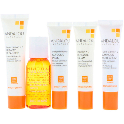 Andalou Naturals, Get Started Brightening, Skin Care Essentials, 5 Piece Kit