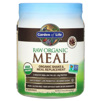 Garden of Life, RAW Organic Meal, Shake & Meal Replacement, Chocolate Cacao, 509 g