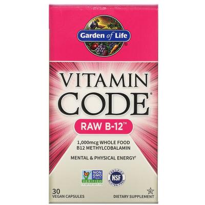 Garden of Life, Vitamin Code RAW B-12, 30 vcaps