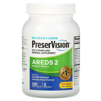 Bausch & Lomb, PreserVision, Eye Vitamin and Mineral Supplement, 120 Soft Gels