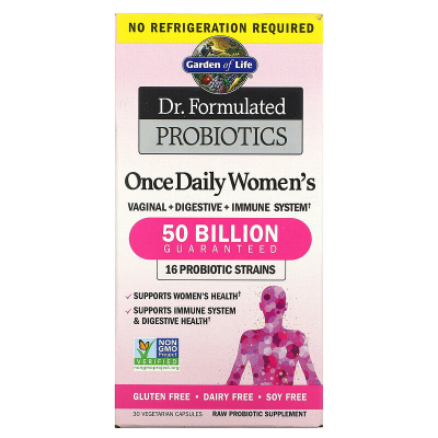 Garden of Life, Dr. Formulated Probiotics, Once Daily Women's, 50 Billion, 30 Vegetarian Capsules