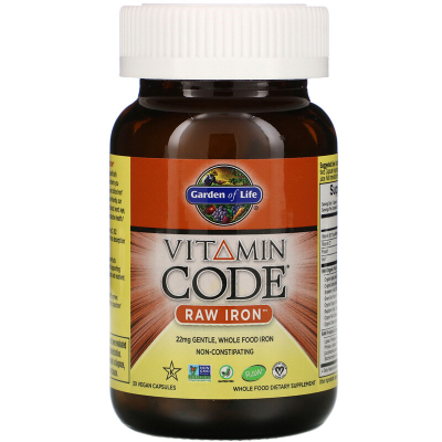 Garden of Life, Vitamin Code RAW Iron, 30 vcaps