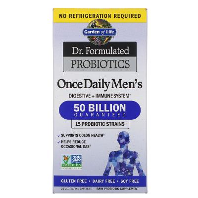Garden of Life, Dr. Formulated Probiotics, Once Daily Men's, 50 Billion, 30 Vegetarian Capsules