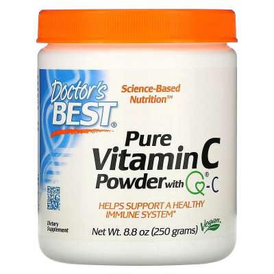 Doctor's Best, Pure Vitamin C Powder with Q-C, 250g