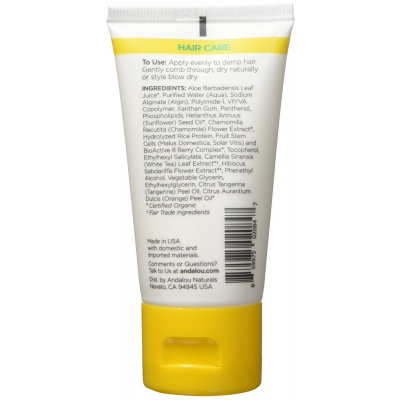 Andalou Naturals, Styling Gel, Brilliant Shine, Medium Hold, Sunflower & Citrus, 50ml