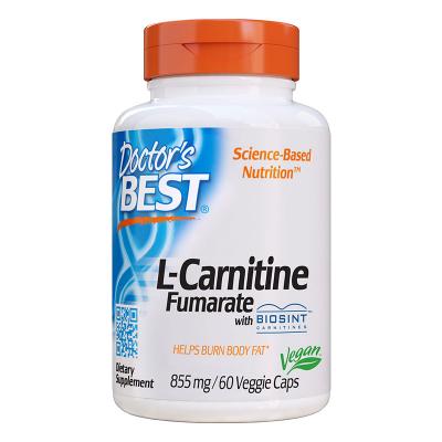 Doctor's Best, L-καρνιτίνη Fumarate με Biosint Καρνιτίνες, 855 mg, 60 Χορτοφαγικές Κάψουλες