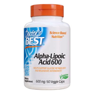 Doctor's Best, Άλφα Λιποϊκό Οξύ, 600 mg, 60 χορτοφαγικές κάψουλες