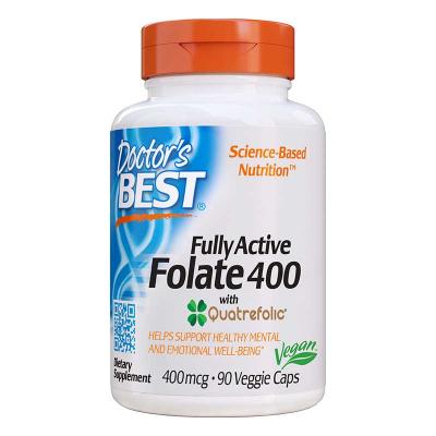 Doctor's Best, Πλήρως Ενεργό Folate 400 με Quatrefolic, 400 mcg, 90 Φυτοκάψουλες