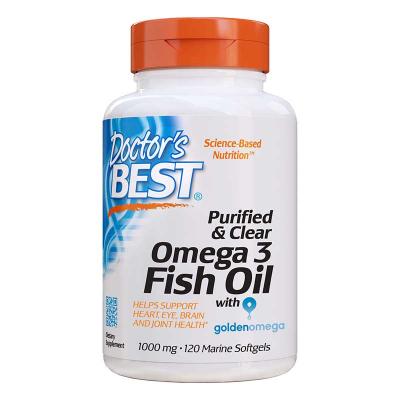 Doctor's Best, Εξαγνισμένο & Καθαρό Ωμέγα 3 Ιχθυέλαιο, 1000 mg, 120 κάψουλες