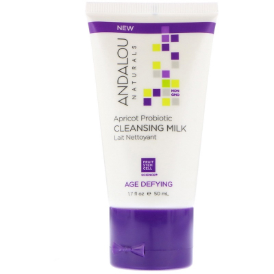 Andalou Naturals, Cleansing Milk, Apricot Probiotic, Age Defying, 50 ml