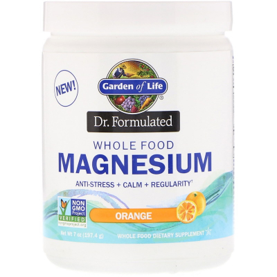 Garden of Life, Dr. Formulated Whole Food Magnesium, Orange, 197 grams