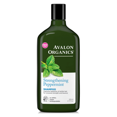 Avalon Organics, Shampoo, Strengthening, Peppermint, 11 fl oz (325 ml)