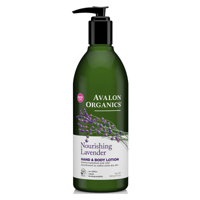 Avalon Organics, Hand & Body Lotion, Nourishing Lavender, 12 oz (340 g)