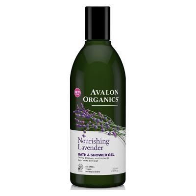 Avalon Organics, Bath & Shower Gel, Nourishing Lavender, 12 fl oz (355 ml)