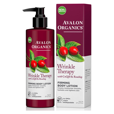 Avalon Organics, Wrinkle Therapy, With CoQ10 & Rosehip, Firming Body Lotion, 8 oz (227 g)