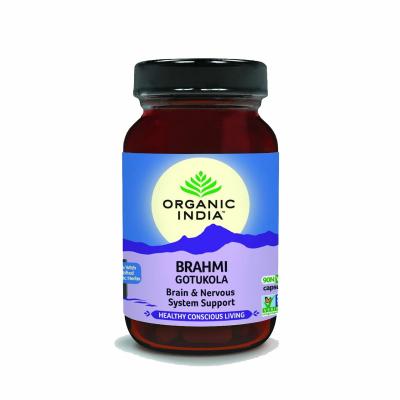 Organic India, Brahmi - Gotu Kola, Μπουκαλάκι Με 90 Χορτοφαγικές Κάψουλες