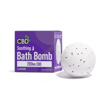 CBDfx, Bath Bombs, Soothing Lavenda, 200mg