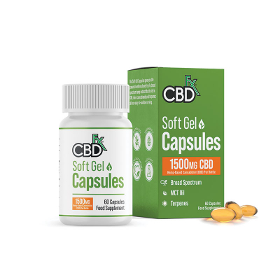 CBDfx, Organic Gel Capsules, 1500mg, 60 Capsules