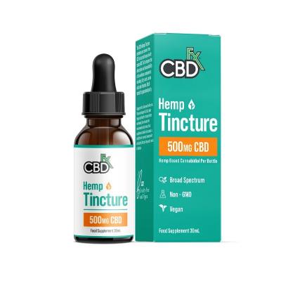 CBDfx, 100% Organic CBD Tincture Oil, 30ml, 500mg