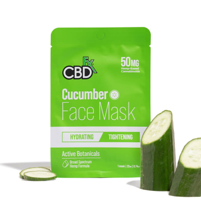 CBDfx, Hemp Face Mask - Cucumber, 50mg
