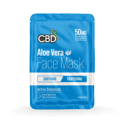 CBDfx, Hemp Face Mask - Aloe Vera, 50mg