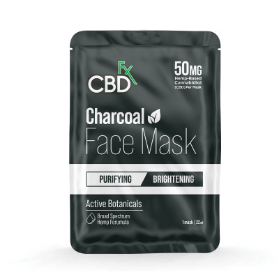 CBDfx, Hemp Face Mask - Charcoal, 50mg