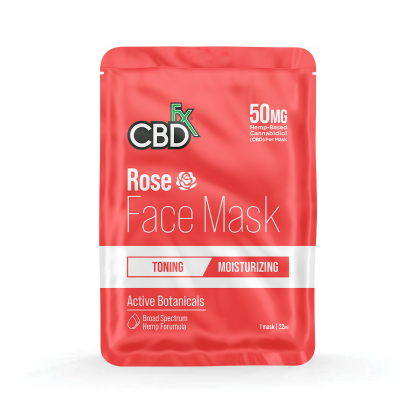 CBDfx, Hemp Face Mask - Rose, 50mg