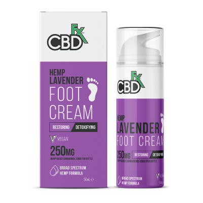 CBDfx, Foot Cream Lavender, 50ml, 250mg