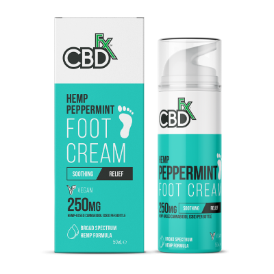 CBDfx, Foot Cream Peppermint , 50ml, 250mg