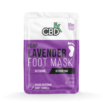 CBDfx, Foot Mask  Lavender, 50mg