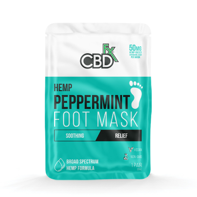 CBDfx, Foot Mask Peppermint, 50mg