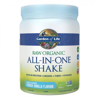 Garden of Life, Raw Organic All-In-One Shake, Vanilla, 484g