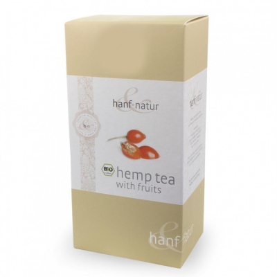 Hanf-Natur, certified organic, Premium Hemp Tea Blend with Fruit, 12 Tea Bags