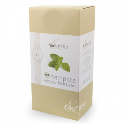 Hanf-Natur, certified organic, Premium Hemp Tea Blend with Turkish Balm, 12 Tea Bags