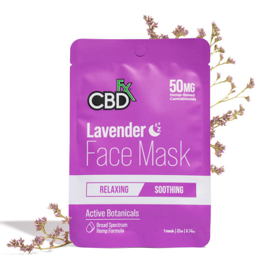 CBDfx, Hemp Face Mask Lavender Night, 50mg