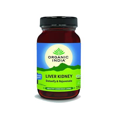 Organic India, Liver Kidney, Μπουκαλάκι Με 90 Χορτοφαγικές Κάψουλες