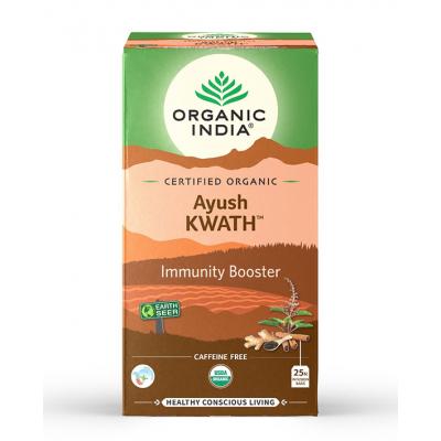 Organic India, Τσάι Ayush Kwath Με Τούλσι, 25 Φακελάκια