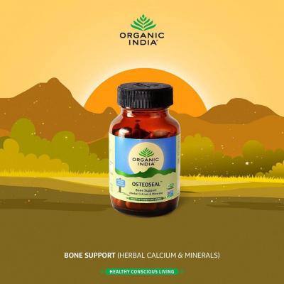 Organic India, Osteoseal, Μπουκαλάκι Με 90 Χορτοφαγικές Κάψουλες