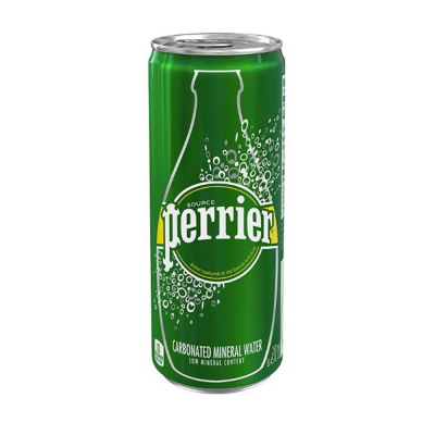 Perrier Sparkling Natural Mineral Water Can, 250ml