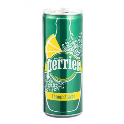 Perrier Sparkling Water Lemon Can, 250ml