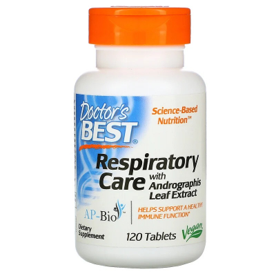 Doctor's Best, Respiratory Care with Andrographis Leaf Extract, 120 Tablets