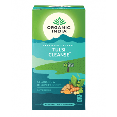 Organic India, Τσάι Cleanse Με Τούλσι, Χωρίς Καφεΐνη, 25 Φακελάκια