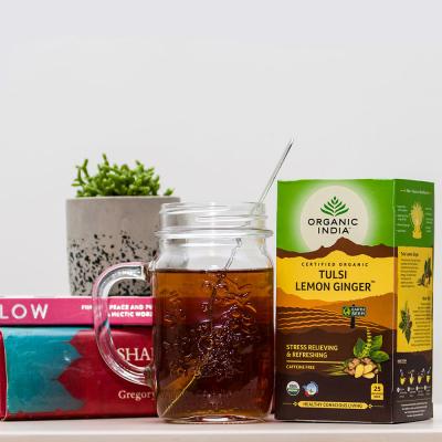 Organic India, Τσάι Lemon Ginger Με Τούλσι, Χωρίς Καφεΐνη, 25 Φακελάκια