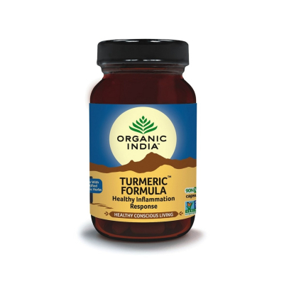 Organic India, Turmeric Formula 90 Capsules Bottle